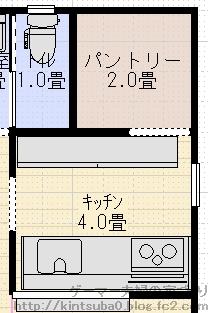 キッチン背面配置1