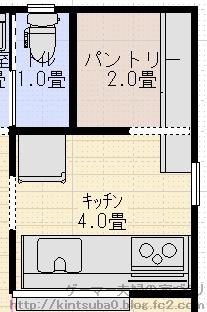 キッチン背面配置2