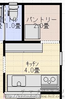 キッチン背面配置4